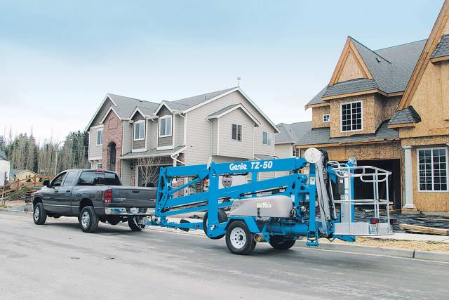 Where to find Genie TZ-50 Trailer Mounted Boom Lift in Glasgow